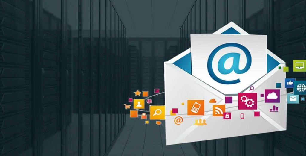 image of email hosting page